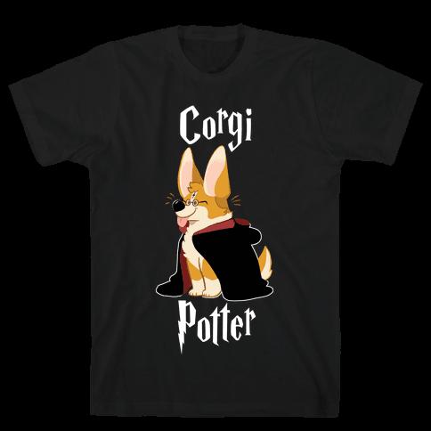 Corgi Potter Mens T-Shirt