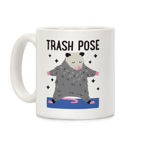 Trash Pose Opossum Coffee Mug