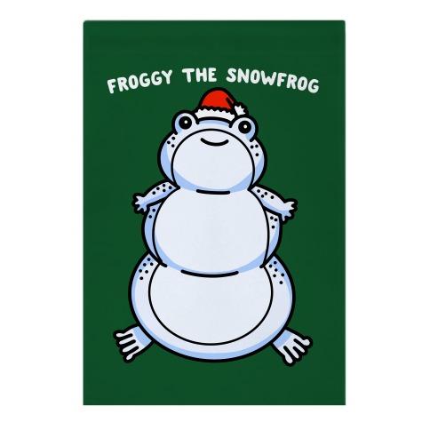 Froggy The Snowfrog Garden Flag