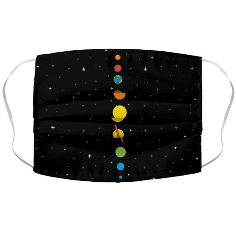 Retro Planets Face Mask