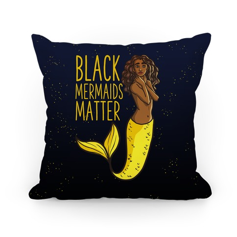 Black Mermaids Matter Pillow