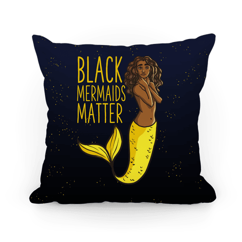 Black Mermaids Matter Pillow