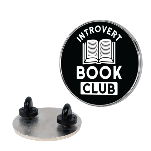 Introvert Book Club Pin