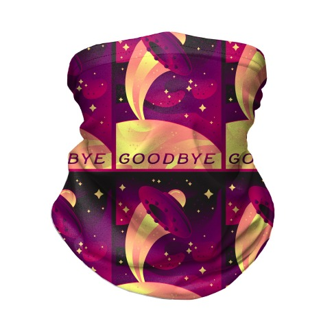 Goodbye Earth Travel Poster Neck Gaiter