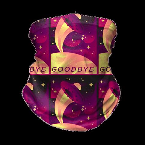 Goodbye Earth Travel Poster Neck Gaiter