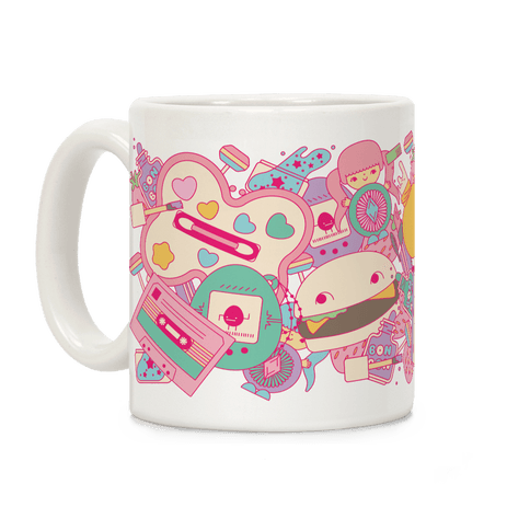 90s Toys Candy and Makeup Coffee Mug