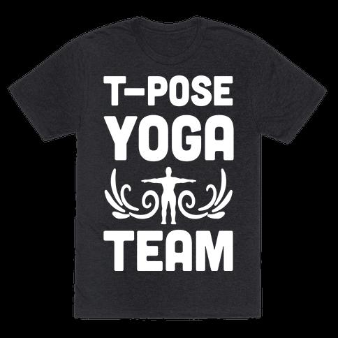 Yoga T-Pose Team Mens T-Shirt