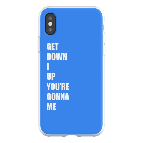 I Get Knocked Down Pair 2 Phone Flexi-Case