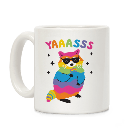 Yas Rainbow Raccoon Coffee Mug