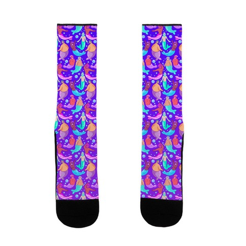 Bearded Mermen Pattern Sock