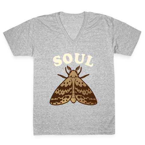 Moth & Lamp Soul Mates (1 of 2) V-Neck Tee Shirt