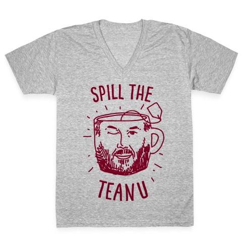 Spill The Teanu V-Neck Tee Shirt