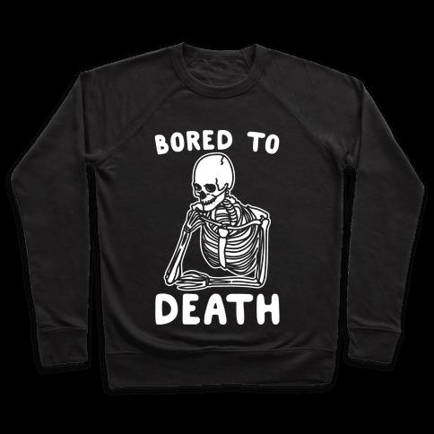 Bored To Death White Print Pullover