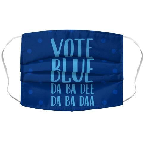 Vote Blue Da Ba Dee Da Ba Daa Accordion Face Mask