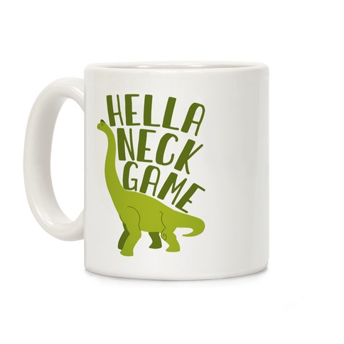 Hella Neck Game Brachiosaurus Coffee Mug