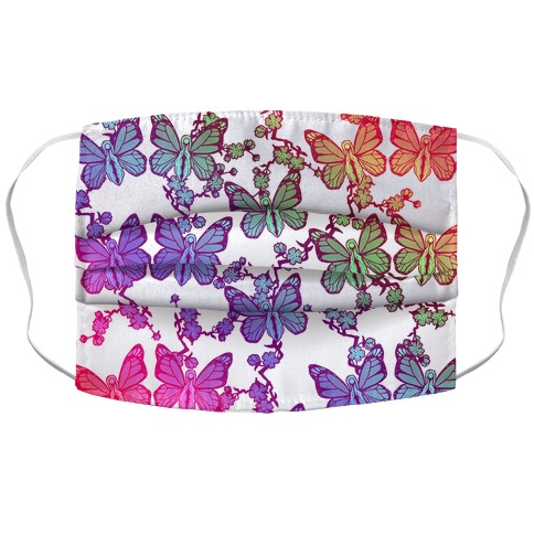 Butterfly Vagina Pattern Accordion Face Mask