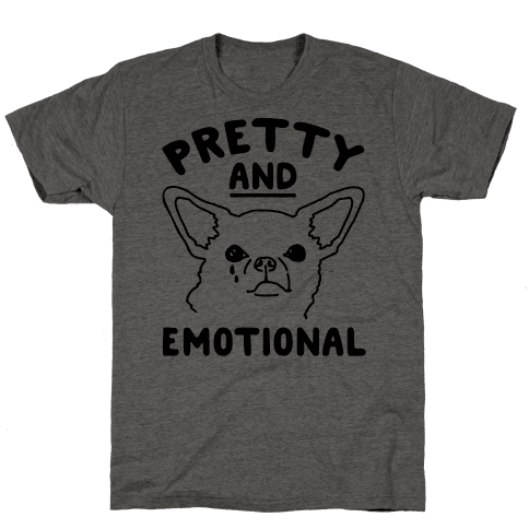 Pretty and Emotional  Mens T-Shirt