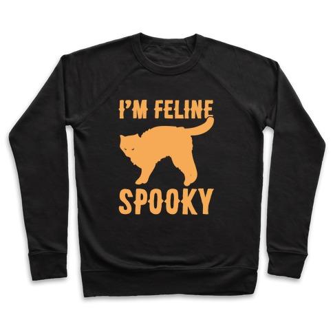 I'm Feline Spooky White Print Pullover