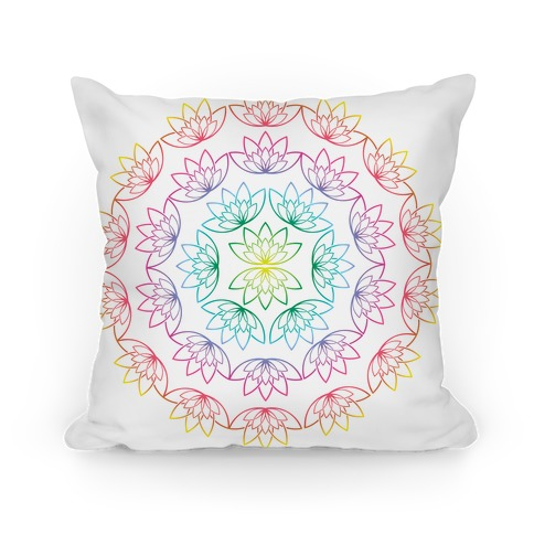 Round Lotus Pattern Pillow