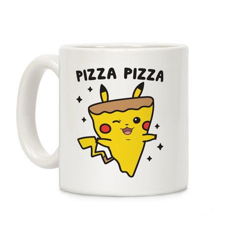 Pizza Pizza Pikachu Parody Coffee Mug
