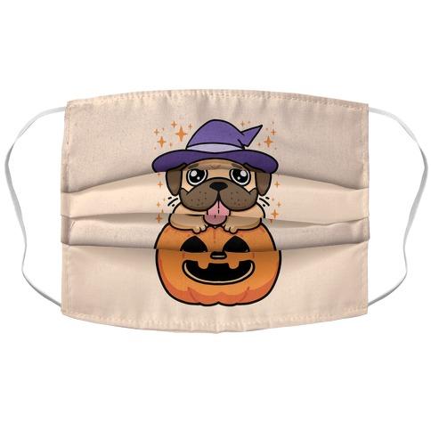 Halloween Pug Accordion Face Mask