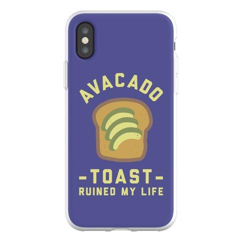 Avocado Toast Ruined My Life Phone Flexi-Case
