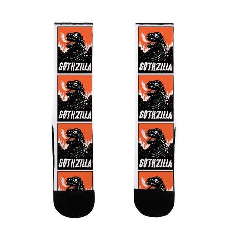 Gothzilla Goth Godzilla Sock