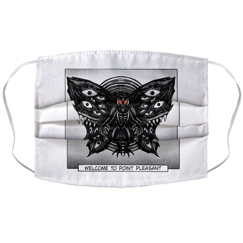 Welcome To Point Pleasant Mothman Manga Accordion Face Mask