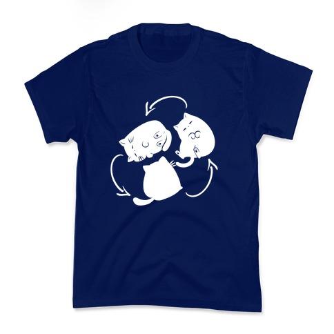 Kitty Pose Cycle  Kids T-Shirt