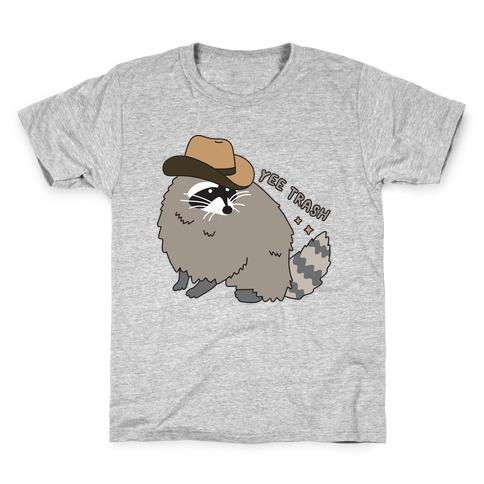 Yee Trash Cowboy Raccoon Kids T-Shirt