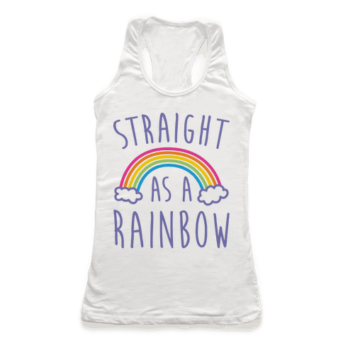 Straight As A Rainbow Racerback Tank Top