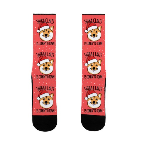 Shiba Claus Is Comin' To Town  Sock