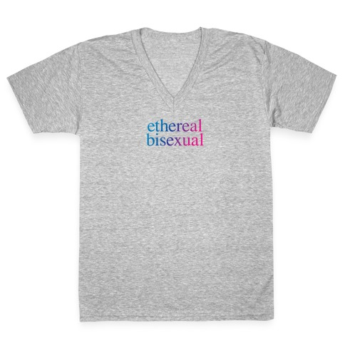 Ethereal Bisexual V-Neck Tee Shirt