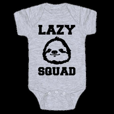 Lazy Squad Baby Onesy