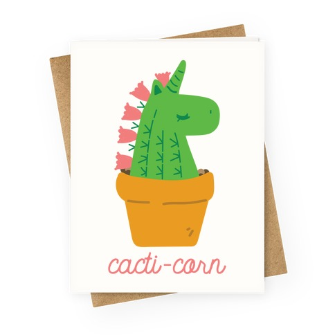 Cacti-corn Greeting Card