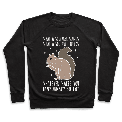 What A Squirrel Wants Pullover