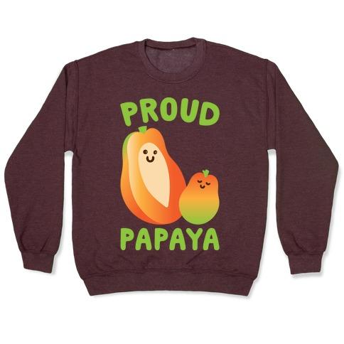 Proud Papaya White Print Pullover