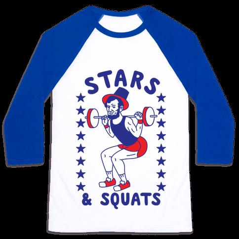 Stars and Squats Baseball Tee