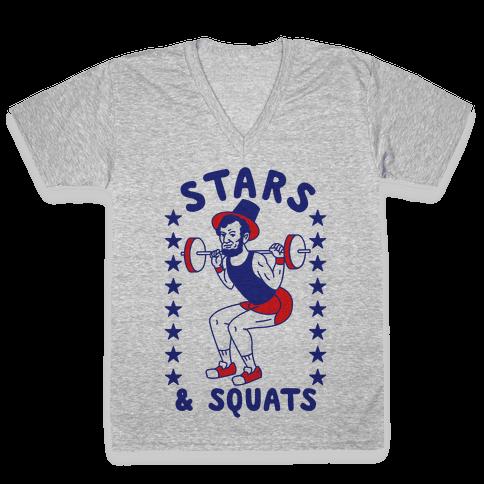 Stars and Squats V-Neck Tee Shirt