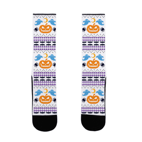 Ugly Halloween Sweater Sock