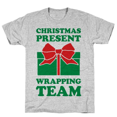 Christmas Present Wrapping Team Mens/Unisex T-Shirt