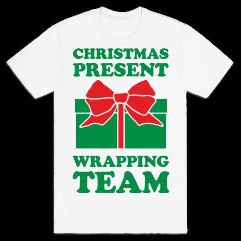Christmas Present Wrapping Team Mens T-Shirt