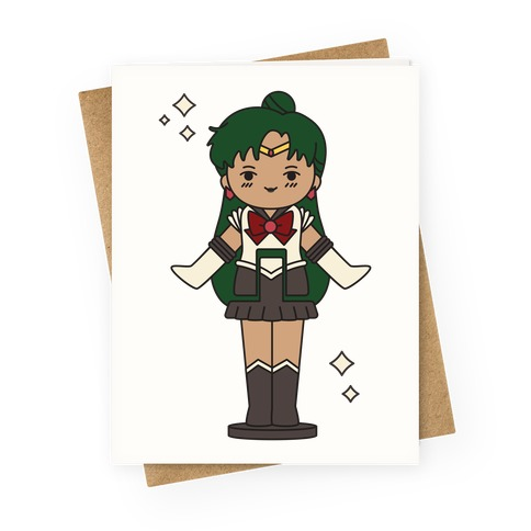 Sailor Pluto Pocket Parody Greeting Card