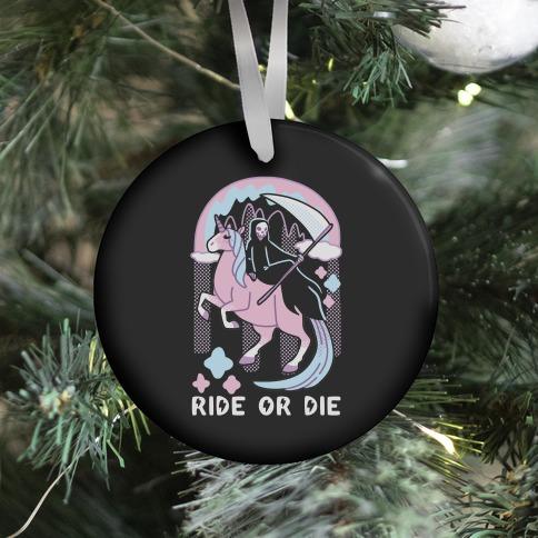 Ride or Die - Grim Reaper and Unicorn Ornament