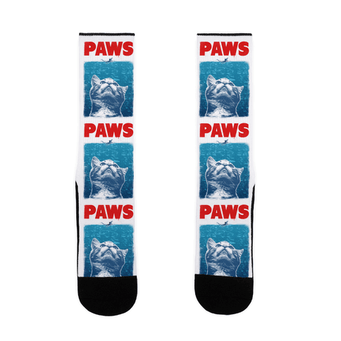 PAWS (Jaws Parody tee) Sock