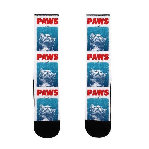 PAWS (Jaws Parody) Sock
