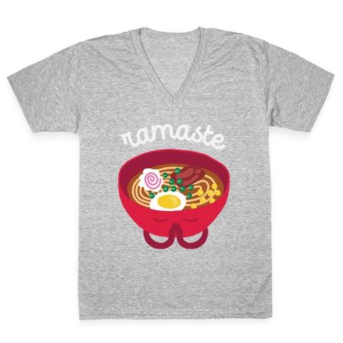 Ramaste V-Neck Tee Shirt