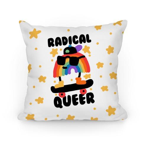 Radical Queer Rainbow Pillow