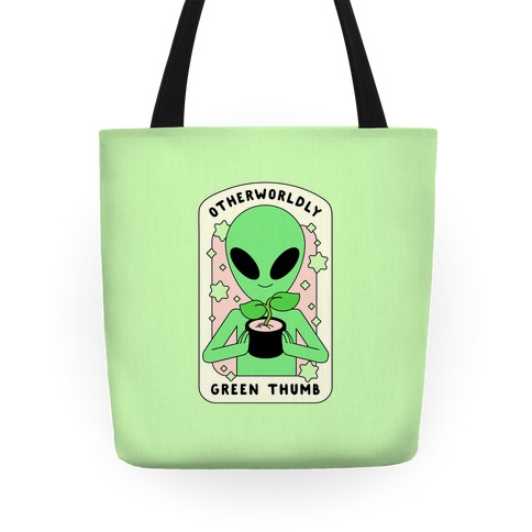 Otherworldly Green Thumb Tote