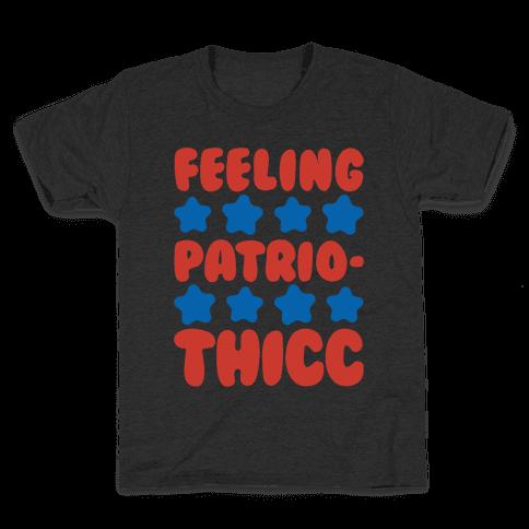 Feeling Patriothicc Parody White Print Kids T-Shirt
